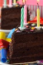 iPhone fondos de pantalla Pastel de chocolate, velas, llama, cumpleaños