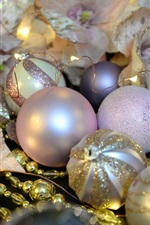 Preview iPhone wallpaper Christmas decorations, balls