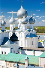 Preview iPhone wallpaper Church, temple, Rostov, Russia