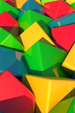 Preview iPhone wallpaper Colorful 3D cubes