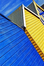Preview iPhone wallpaper Colorful beach huts, Herne Bay, Kent, England