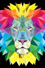 Mania de leão colorida, imagem vetorial