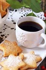 Preview iPhone wallpaper Cookies, coffee, breakfast