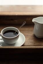 Cup, coffee, spoon, drinks