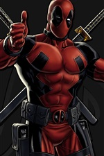 Preview iPhone wallpaper Deadpool, art picture