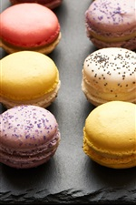 Preview iPhone wallpaper Delicious macaron, dessert, cookies