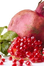 Preview iPhone wallpaper Delicious pomegranate, white background