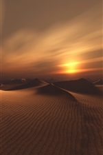 Preview iPhone wallpaper Desert, sands, clouds, sunset