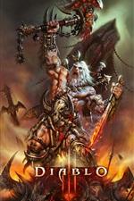 Preview iPhone wallpaper Diablo 3, barbarian