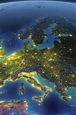 Terra, planeta, espaço, Europa, Mar Mediterrâneo, luz