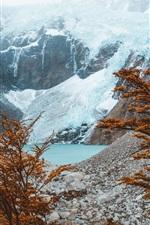 Preview iPhone wallpaper El Chalten, Argentina, mountains, lake, trees, autumn