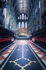 Preview iPhone wallpaper England, cathedral, religion, nave