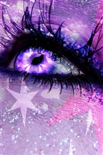 Preview iPhone wallpaper Eyes, colorful, shine, creative picture