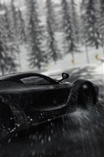 Preview iPhone wallpaper Ferrari black supercar speed, drift