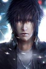 Preview iPhone wallpaper Final Fantasy XV, guy, classic games