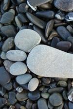 iPhone обои Следы, камни, булыжник