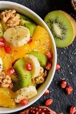 Preview iPhone wallpaper Fruit salad, breakfast