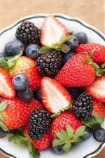Preview iPhone wallpaper Fruit salad, strawberry, blackberry, blueberry