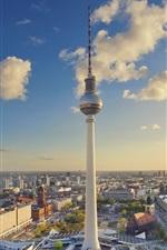 Preview iPhone wallpaper Germany, Berlin, Alexanderplatz, tower, city