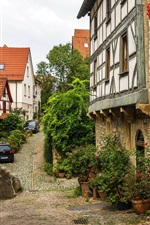 Preview iPhone wallpaper Germany, Wimpfen, street, houses, flowers