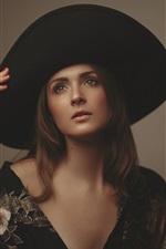 Girl, hat, hand