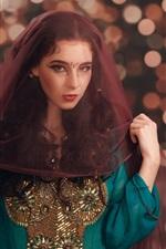 Preview iPhone wallpaper Girl, veil