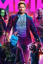Preview iPhone wallpaper Guardians of the Galaxy 2, movie 2017 HD