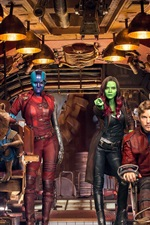 Guardians of the Galaxy Vol. 2, characters in spaceship