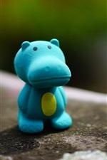 Preview iPhone wallpaper Hippopotamus toy