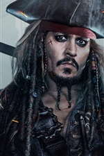 Preview iPhone wallpaper Johnny Depp, Pirates of the Caribbean 5