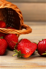 Preview iPhone wallpaper Juicy fruit, strawberry, basket