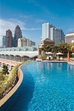 Preview iPhone wallpaper Kuala Lumpur, Malaysia, swimming pool, resort