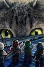 Preview iPhone wallpaper LEGO movie, Ninjago and big cat