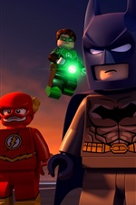 Preview iPhone wallpaper Lego movie, DC Comics, superheroes