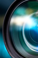 Preview iPhone wallpaper Lens, mirror, blur, technology