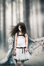 Pequena anjinha, asas feridas