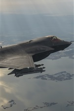Preview iPhone wallpaper Lockheed Martin F-35B bomber flight
