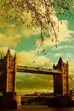 Preview iPhone wallpaper London, Tower Bridge, river, summer, England