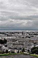 Preview iPhone wallpaper London, city buildings, clouds, dusk, UK