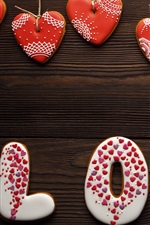 Preview iPhone wallpaper Love, heart, cookies