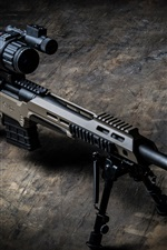 Preview iPhone wallpaper MDT sniper rifle, weapon