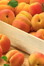 Preview iPhone wallpaper Many apricots, ripe fruit