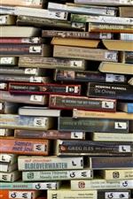 Many books background