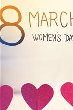 8 de março, Dia da Mulher, corações de amor