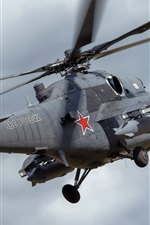 Preview iPhone wallpaper Mi-35 helicopter flight