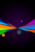 Preview iPhone wallpaper Multicolored lines, symmetry, abstract
