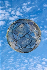 Preview iPhone wallpaper Net ball in the blue sky, clouds