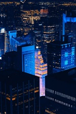 Preview iPhone wallpaper New York, skyscrapers, lights, city, night, USA