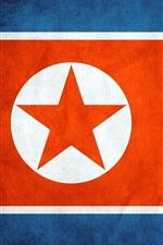 Preview iPhone wallpaper North Korea flag