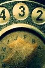 iPhone fondos de pantalla Dial de teléfono viejo, polvo